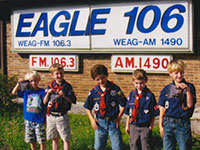Cub Scouts Visit the Station